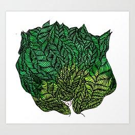 Leaf Head II Art Print