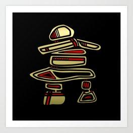 Tribal Inuksuk Stone Totem Figure Art Print
