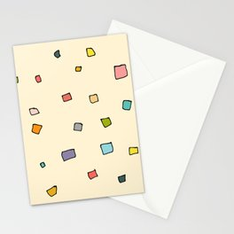 Retro Abstract Squares Stationery Cards