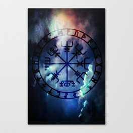 Viking Vegvisir Canvas Print