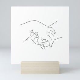 Picasso Line Art - Hands Mini Art Print