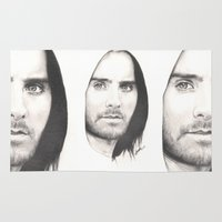 jared leto Area & Throw Rugs featuring jared leto... by als3