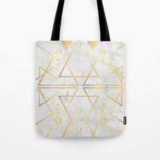 wire gOld triangle Tote Bag