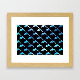 Dolphin Shimmer Framed Art Print