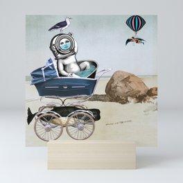 Absurd Beach - Baby with the Bathwater Mini Art Print