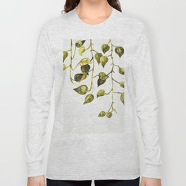 Golden Pothos - Botanical ink painting Long Sleeve T-shirt
