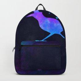 ROADRUNNER IN SPACE // Animal Graphic Art // Watercolor Canvas Painting // Modern Minimal Cute Backpack