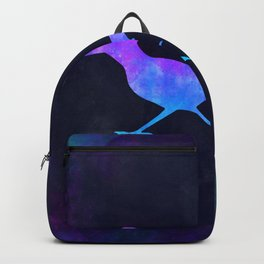 ROADRUNNER IN SPACE // Animal Graphic Art // Watercolor Canvas Painting // Modern Minimal Cute Backpack