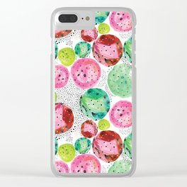 Planets of colors Clear iPhone Case