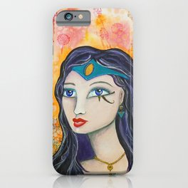 Diana - Gold Lotus Oracle Series iPhone Case