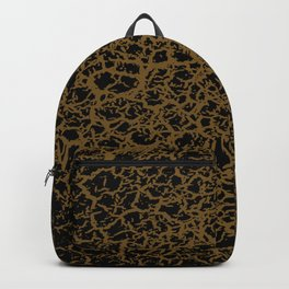 Black and Gold Crackle Print Backpack