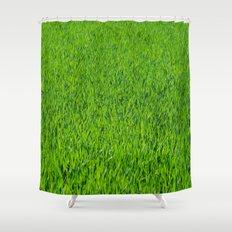 Green Grass Pattern Shower Curtain