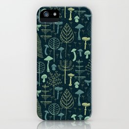 Magic Forest Green iPhone Case