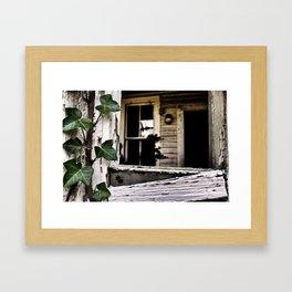 {home} Framed Art Print