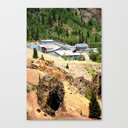 Mayflower Gold Ore Mill, on the Animas River above Silverton Canvas Print