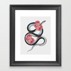 Serpent of love Framed Art Print
