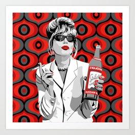 Absolutely Fabulous: Patsy Stone Art Print
