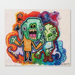 Greenmen. Canvas Print