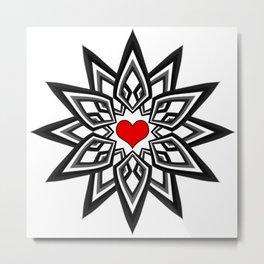 Heart star Metal Print