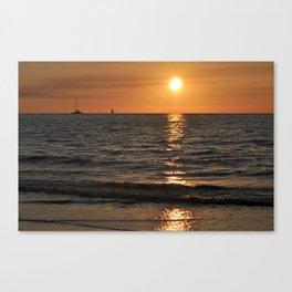 SUMMER SUNSET feeling - Baltic Sea Canvas Print