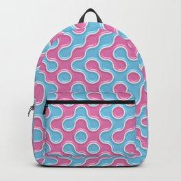 Blue Pink Truchet Tilling Pattern Backpack