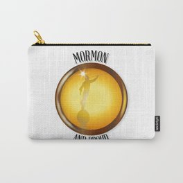 Mormon And Proud Button Carry-All Pouch