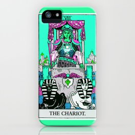 7. The Chariot- Neon Dreams Tarot iPhone Case