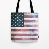 patriotic Tote Bags featuring PATRIOTIC by alfboc