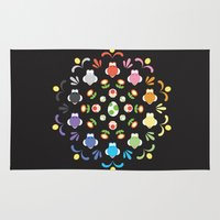 yoshi Area & Throw Rugs featuring Yoshi Prism by Ashley Hay
