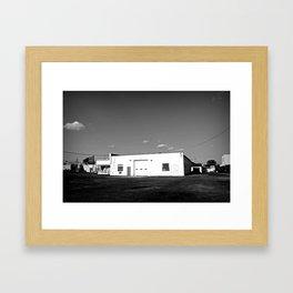 Empty Garage Framed Art Print