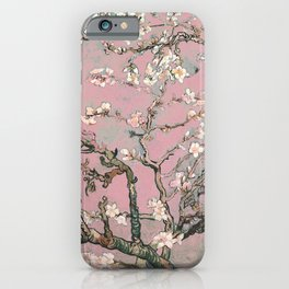 Almond Blossom - Vincent Van Gogh (pink pastel) iPhone Case