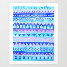 Tribal Stripe - Pastel Art Print