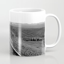 Black and white train track photo Coffee Mug