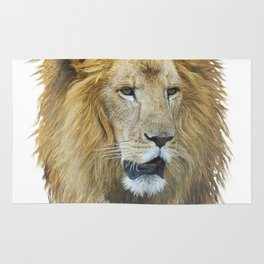 lion head watercolor Rug