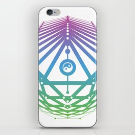 Radiant Abundance (white-cool gradient) iPhone Skin