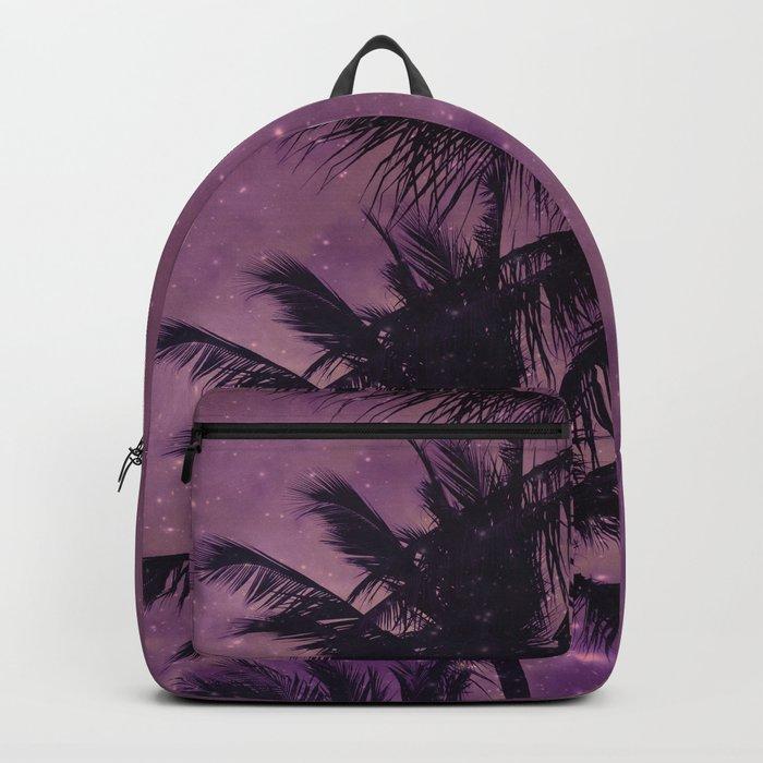 Purple Sky Palm Backpack