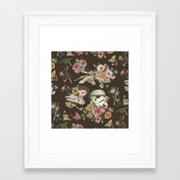 animal Framed Art Prints featuring Botanic Wars by Josh Ln