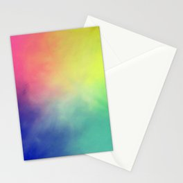 Rainbow aura Stationery Cards