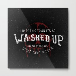 A Day To Remember Lyrics - All Signs Point To Lauderdale Metal Print