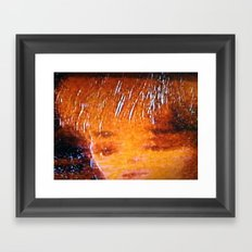 what? that's how she felt. Framed Art Print