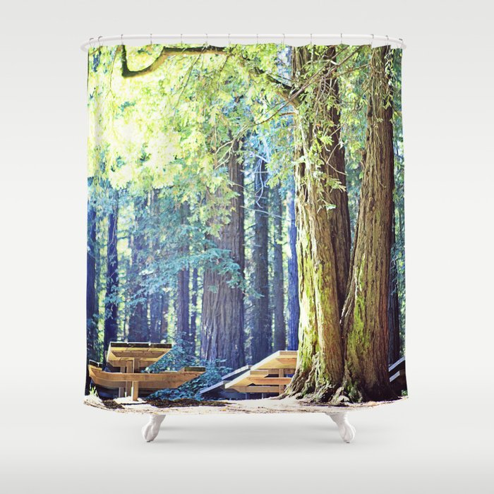 Picnic In The Woods Shower Curtain