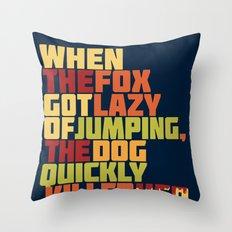 That Lazy Fox Throw Pillow