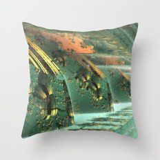 Cannon Battery (Crosshatch Explosion) Throw Pillow