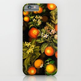 Vintage & Shabby Chic- Tropical Fruit Night Garden iPhone Case