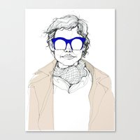 glasses Canvas Prints featuring Glasses by fossilized