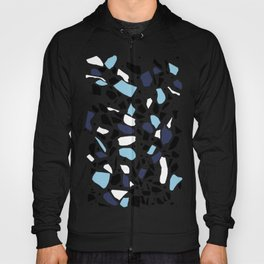 Terrazzo Spot Blues on Blush Hoody