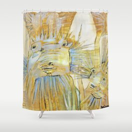 Boxfish in Yellow Shower Curtain