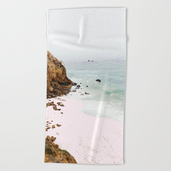 Pink Trails #society6 #decor #buyart Beach Towel