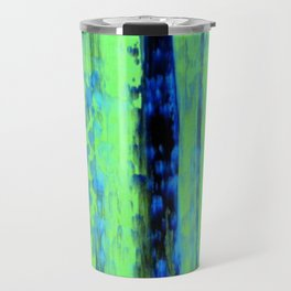 Gerhard Richter Inspired Urban Rain 2 - Modern Art Travel Mug