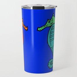 The Charming Sea-Horses Travel Mug